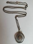 Кулон + цепочка 60 см. Серебро 925 проба., фото №2