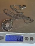 Кулон + цепочка 60 см. Серебро 925 проба., фото №10