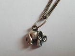 Кулон + цепочка 40 см. Серебро 925 проба. Слоненок., фото №2