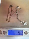 Кулон + цепочка 40 см. Серебро 925 проба. Слоненок., фото №7