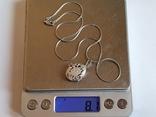 Нательная иконка + цепочка 50 см. Серебро 925 проба., фото №8
