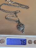 Иконка. Ладонка. Цепочка 60 см. Серебро 925., фото №9