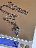 Иконка. Ладонка. Цепочка 60 см. Серебро 925., фото №10