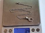 Подвес в виде подковы + цепочка 50 см. Серебро 925 проба. Вес 8 г, фото №8