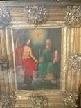Святая Троица - старинная икона ( 60 на 70 см), фото №3