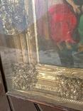Святая Троица - старинная икона ( 60 на 70 см), фото №8