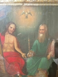 Святая Троица - старинная икона ( 60 на 70 см), фото №9