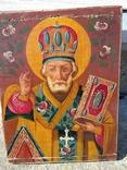 Святой Николай - старинная икона ( 30 на 39 см ), фото №2