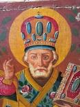 Святой Николай - старинная икона ( 30 на 39 см ), фото №3