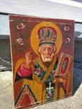 Святой Николай - старинная икона ( 30 на 39 см ), фото №6