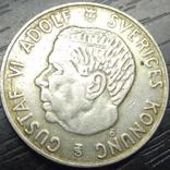 1 крона Швеція 1952 рідкісна срібло, фото №3