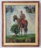 Козак Жила, фанера/олія, 32х40 см, фото №2