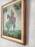 Козак Жила, фанера/олія, 32х40 см, фото №4