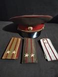 Фуражка и погоны офицера СА СССР, фото №2
