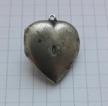 Кулон в форме сердечка Советского периода, 875, 5,7 грамм, фото №6