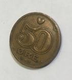 Монета Дании 50 ере, фото №3