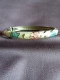 Винтажный браслет клуазоне, фото №4