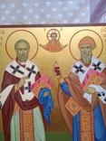 Икона Св.Николай чудотворец и Спиридон тримифунский писанная ручной работы, фото №4