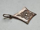 Советский кулон. Серебро 875. Позолота., фото №3