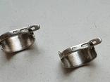 Советские серьги. Серебро 875 проба., фото №5