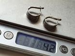 Советские серьги. Серебро 875 проба., фото №7