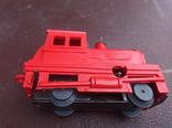 Игрушка поезд красний СССР, фото №9