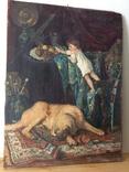 Картина В мастерской художника копия ,старая, фото №2