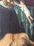 Картина В мастерской художника копия ,старая, фото №4