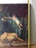 Картина В мастерской художника копия ,старая, фото №9