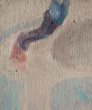 """1980, В.Кнышевский""""Крутые виражи"""",х.м.40*45см, фото №3"""