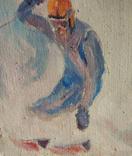 """1980, В.Кнышевский""""Крутые виражи"""",х.м.40*45см, фото №7"""