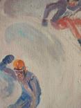 """1980, В.Кнышевский""""Крутые виражи"""",х.м.40*45см, фото №8"""