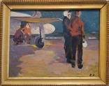 """1980,Кнышевский В.""""Авиаторы"""",к.м.30*39см, фото №2"""