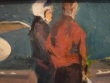 """1980,Кнышевский В.""""Авиаторы"""",к.м.30*39см, фото №3"""