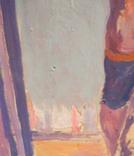 """1980,Кнышевский В.""""Олимпийский огонь""""орг.м.65*49см, фото №3"""