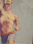 """1980,Кнышевский В.""""Олимпийский огонь""""орг.м.65*49см, фото №6"""