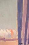 """1980,Кнышевский В.""""Олимпийский огонь""""орг.м.65*49см, фото №7"""