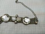 Браслет на витых полых цепочках с декором из камней. (3), фото №6