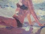 "1990,Кнышевский В.""На пляже"",х.м.40*65см, фото №4"
