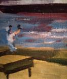 """1982,Кнышевский В.""""Северный порт"""",х.м.46*40см, фото №9"""