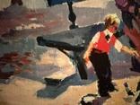 """1990,Кнышевский В.""""В сквере"""",х.м.40*65см, фото №4"""