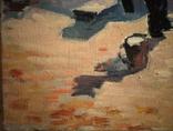 """1990,Кнышевский В.""""В сквере"""",х.м.40*65см, фото №5"""