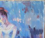 """1982,Кнышевский В.""""Перед выступлением"""",орг.м.31*20см, фото №4"""