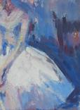 """1982,Кнышевский В.""""Перед выступлением"""",орг.м.31*20см, фото №7"""