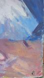 """1982,Кнышевский В.""""Перед выступлением"""",орг.м.31*20см, фото №8"""