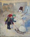 """Картина """"Снеговик"""",х.м.60*50см, фото №2"""