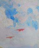 """1980,Кнышевский В.""""Юные планеристы"""",х.м.48*45см, фото №4"""