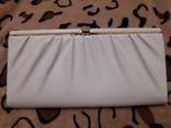 Белый клатч Salisburys Англия с чехлом для хранения, фото №2