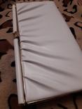 Белый клатч Salisburys Англия с чехлом для хранения, фото №4