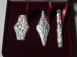 Набор монет гривна киевская черниговская новгородская футляр серебро копия тип 2, фото №3